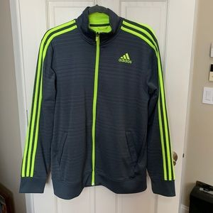 dddc463e2ff Adidas men's gray and green tracksuit-size L